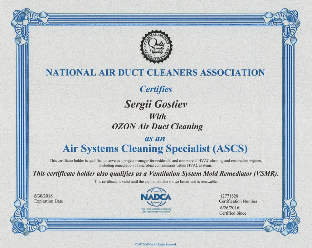 ozone air duct cleaning
