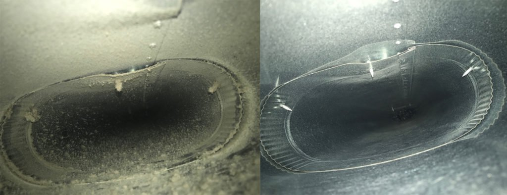 air duct cleaning before and after